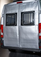 Winter insulation mats for Camper Van rear doors without bike carrier