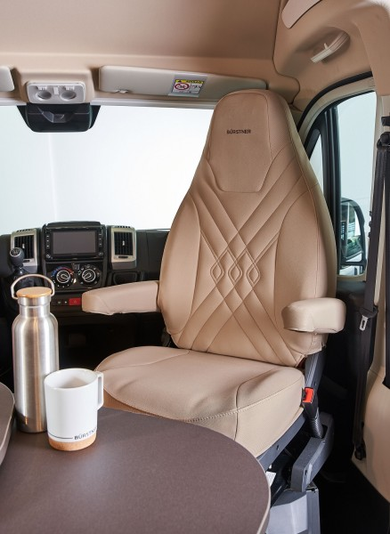 Seat protective cover Fiat Ducato - brown