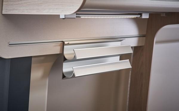 Foil holder for the kitchen rail system