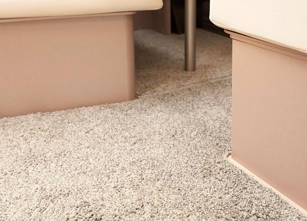 Living room carpet Sparkling grey